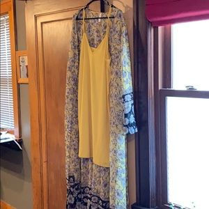 Maxi dress free people vibe with slip dress